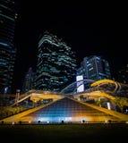 曼谷市scape 库存照片