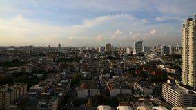 曼谷市Timelapse在太阳集合前的 股票录像