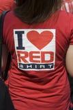 曼谷拒付红色衬衣 库存图片