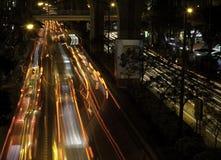 曼谷拥挤的街 免版税库存图片
