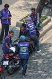 曼谷摩托车出租汽车司机 库存图片