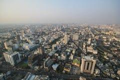曼谷日落,曼谷市,曼谷泰国,日落 免版税图库摄影