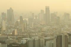 曼谷日落,曼谷市,曼谷泰国,日落 免版税库存照片