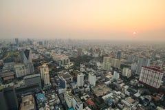 曼谷日落,曼谷市,曼谷泰国,日落 库存照片