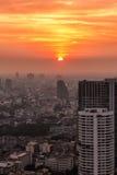 曼谷日落 免版税图库摄影