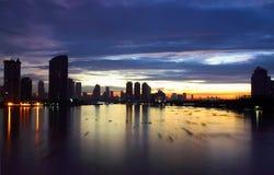 曼谷早晨地平线 免版税库存图片
