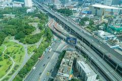 曼谷是最大的城市在有7,02百万inhabi的泰国 库存图片