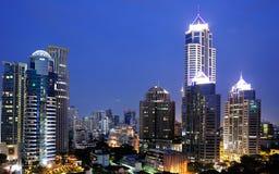 曼谷晚上视图 免版税图库摄影