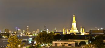 曼谷晚上  库存图片