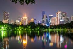 曼谷暮色夜场面黄昏的 免版税库存照片