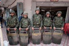 曼谷暴乱泰国 免版税库存照片