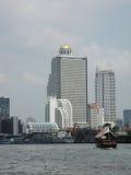 曼谷河视图 免版税库存图片