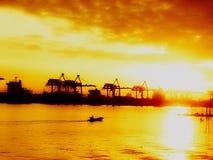 曼谷河 免版税库存照片