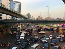 曼谷泰国交通堵塞  免版税图库摄影