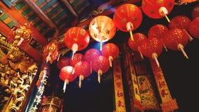 曼谷泰国唐人街寺庙内部 免版税库存照片
