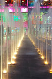 曼谷泰国模范喷泉 免版税图库摄影