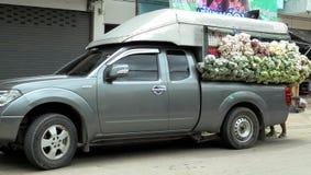 曼谷泰国:移动的摊位普遍的事在泰国 免版税库存图片