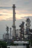 曼谷泰国2017年5月12日:在晁pra ya附近的炼油厂 免版税库存图片