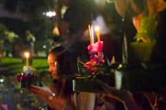 曼谷泰国- 11月25日:Loy Krathong节日 免版税库存照片