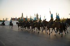 曼谷泰国11月27The皇家卫兵皇家泰国武装 库存照片
