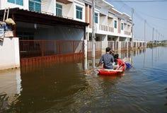 曼谷洪水泰国 免版税库存照片