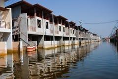 曼谷洪水 库存图片