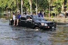 曼谷洪水 库存照片