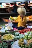 曼谷浮动的市场 免版税库存图片