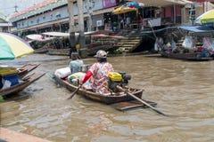 曼谷浮动的市场 库存图片