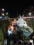 曼谷港区小船&市场 库存图片
