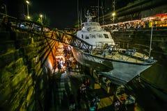 曼谷港区市场 免版税库存照片