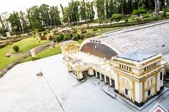 曼谷火车站或华Lamphong驻地在微型公园是显示微型大厦和模型的一个露天场所 免版税库存图片