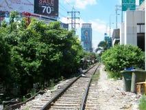 曼谷火车轨道 免版税库存图片