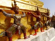 曼谷玉佛寺的邪魔监护人 库存图片