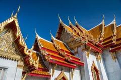 曼谷玉佛寺盛大宫殿寺庙,鲜绿色菩萨屋顶  曼谷泰国 库存照片