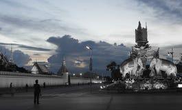 曼谷玉佛寺,曼谷,泰国地标  库存照片