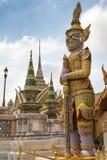 曼谷玉佛寺,鲜绿色菩萨的寺庙,曼谷,泰国 免版税库存图片