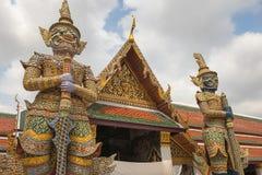 曼谷玉佛寺,鲜绿色菩萨的寺庙,曼谷,泰国 图库摄影