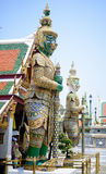 曼谷玉佛寺绿色巨人  免版税库存照片
