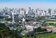 曼谷的事务和住宅区概要 免版税库存图片