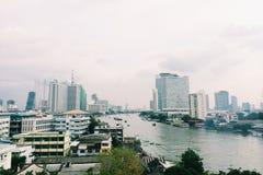 从曼谷的河视图 库存图片