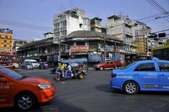 曼谷的老区 库存照片