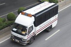 曼谷监狱公共汽车汽车 免版税库存照片