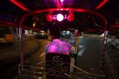 曼谷看法在夜之前 库存照片