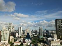 曼谷看法在晴天 免版税库存图片