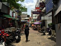 曼谷胡同 免版税库存照片
