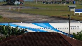 曼谷航空空中客车A320乘出租车 股票录像
