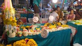 曼谷花市场 免版税库存照片