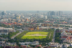 曼谷萨娜姆Luang,曼谷玉佛寺和盛大宫殿 库存图片
