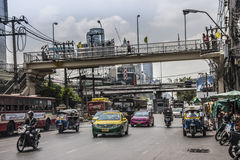 曼谷街道场面 图库摄影